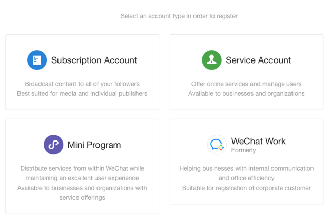 How To Register A Wechat Official Account Digital Crew